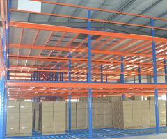 快来看牧隆三层阁楼货架整洁大方,真的是仓库的良器